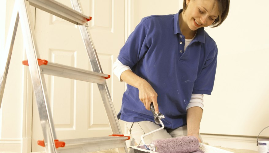 Rollers can paint an area smoothly when used correctly.