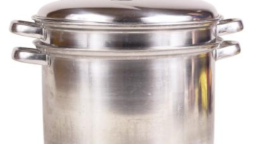 A bain-marie, or double boiler, can be used to steam salmon.