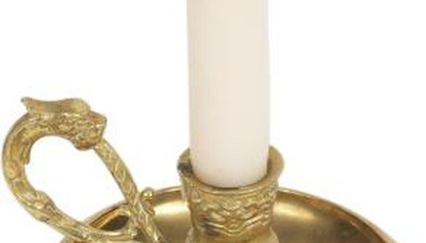 Brass is a popular metal for candlesticks.
