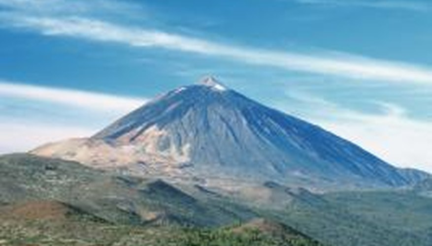 Modelling your volcano on a real volcano also adds an aspect of realism to your project.
