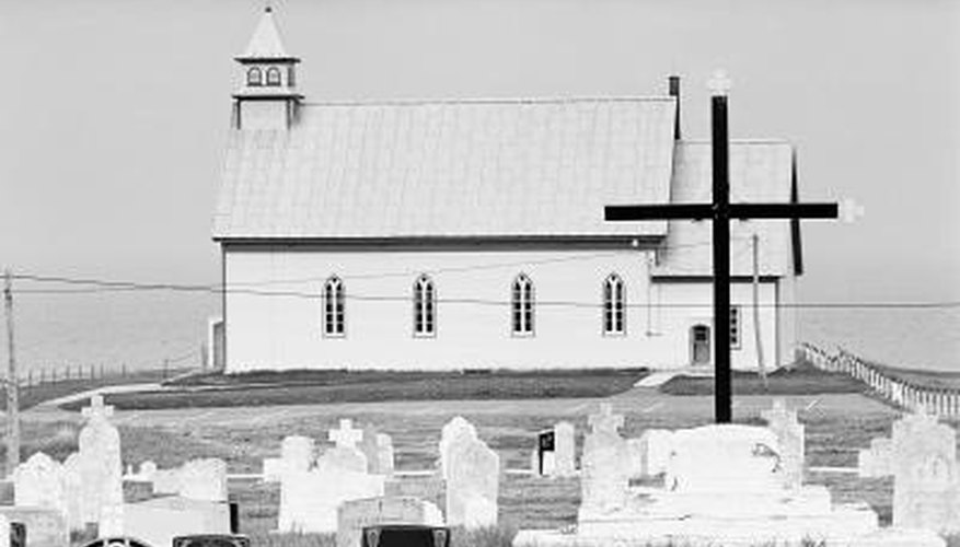 Cemetery or church offices hold plot ownership records.