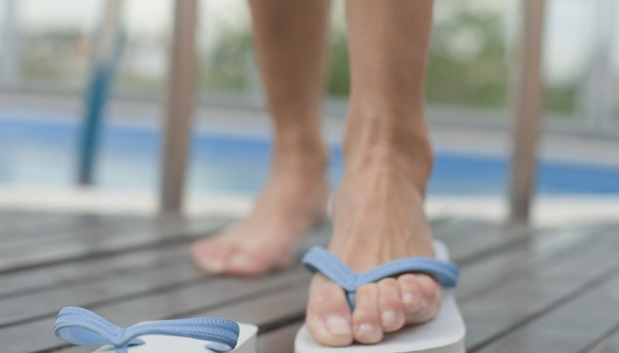 Disinfect your flip-flops to get rid of unhealthy bacteria.