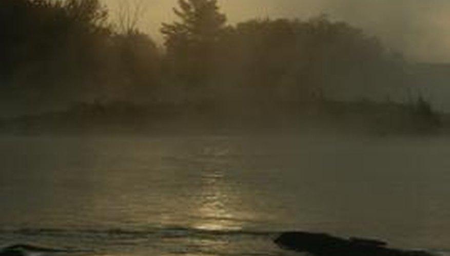 Fog often accompanies sunrise drawings.