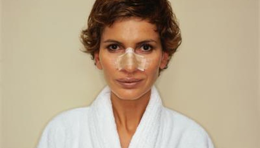 Disguise your nose job after your cast has been removed.