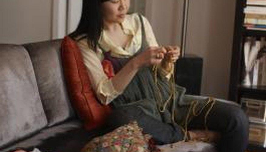Long treble crochet creates tall, open stitches.