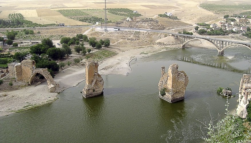 River running through Mesopotamia region of Turkey