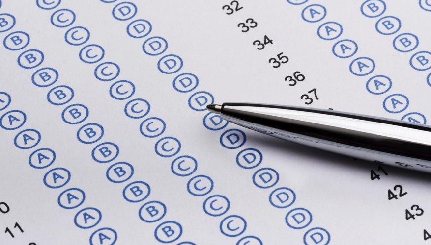 Standardized test with pen