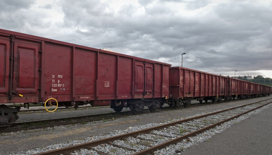 A train with boxcars.