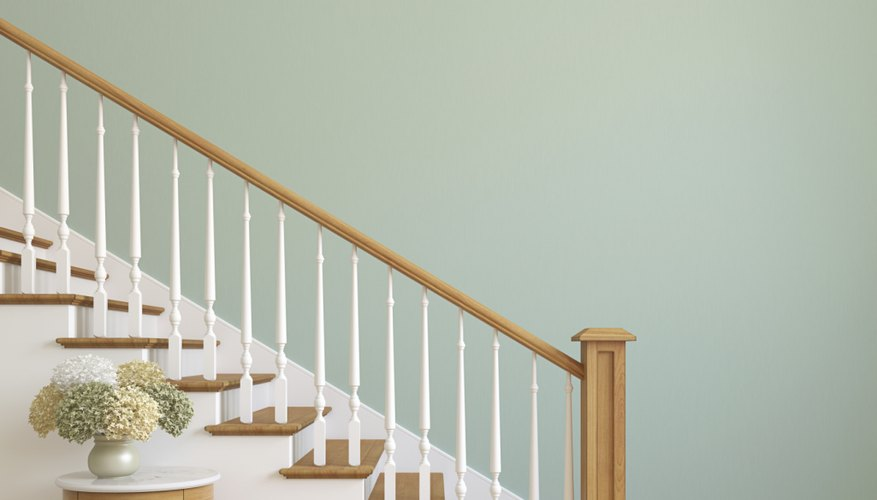 Stairways and hallways are transition areas that can be experimented with colour and light.