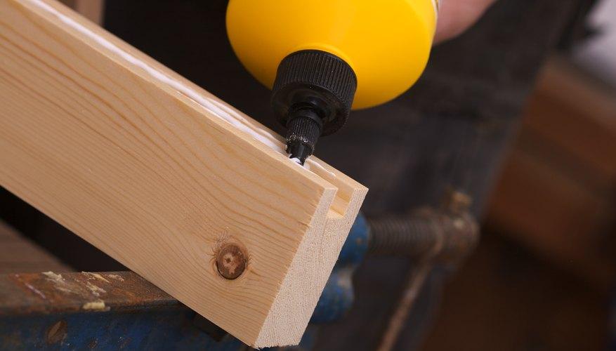 A standard wood glue will do the job.