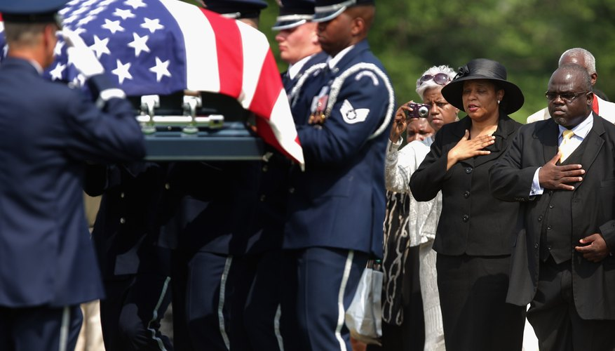 Anyone who considers themselves a patriotic American can request that his casket be draped in the flag.