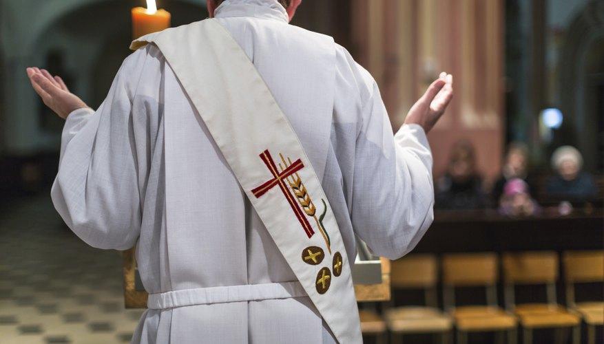 back of clergyman