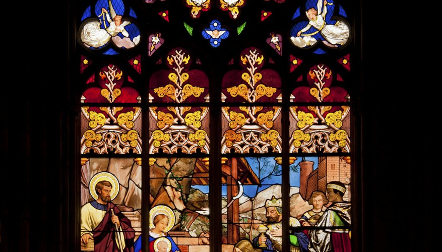 Often the biblical messages embedded in stained glass were overt yet skillfully rendered.