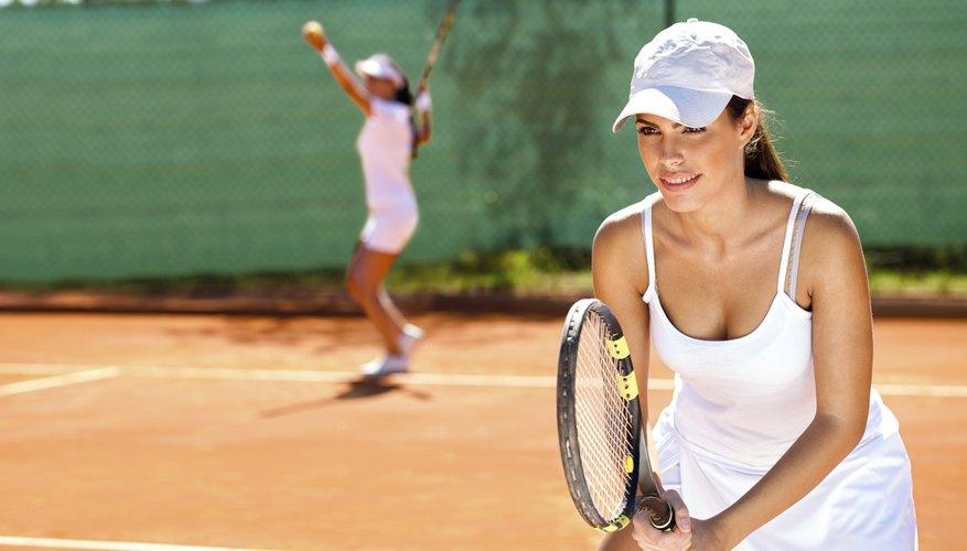 Women's tennis doubles.