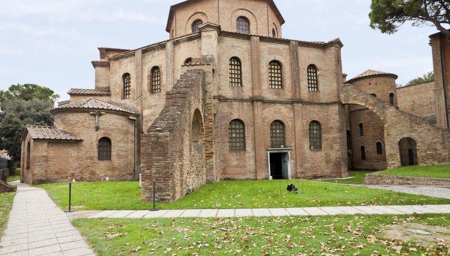 The San Vitale church in Italy.