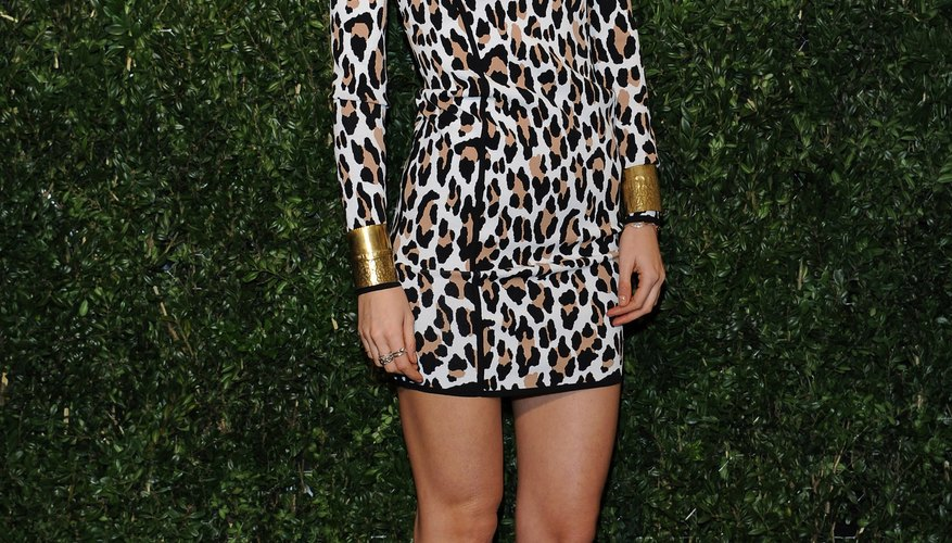 The key to styling a leopard dress is keeping it simple.
