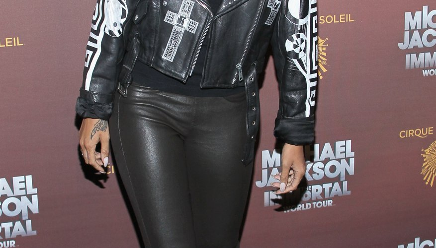 Follow Singer Rhianna's cue and incorporate a little leather into your wardrobe for some sexy rock star style, as she does here at an event in Los Angeles in January 2012.