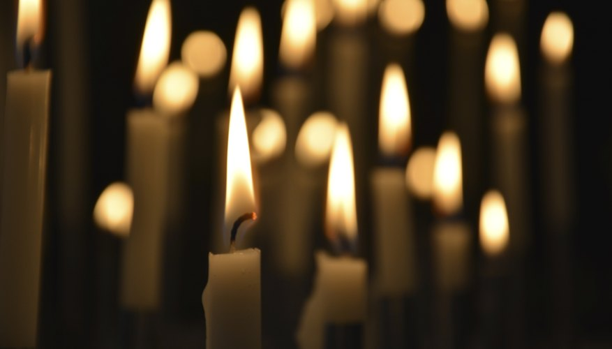 Secular services can include a candle-lighting ceremony.
