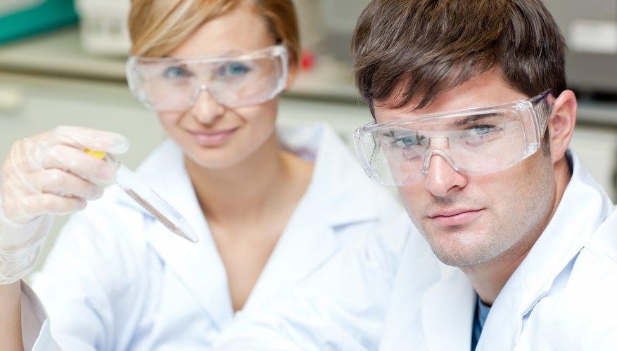 Students in Pharmacy school.