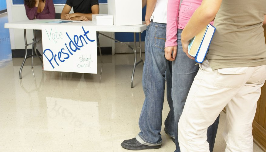 Students can participate in elections by getting involved in school government.