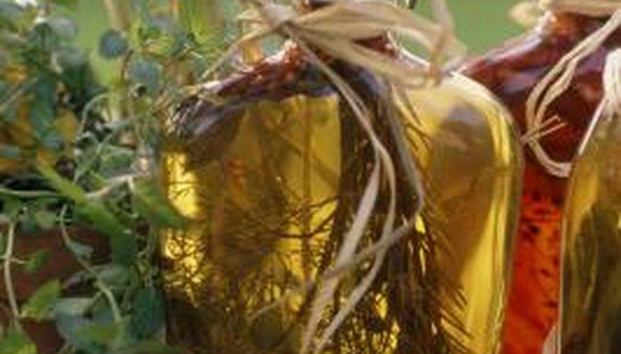 Vinegar contains acetic acid, one of many common weak acids.