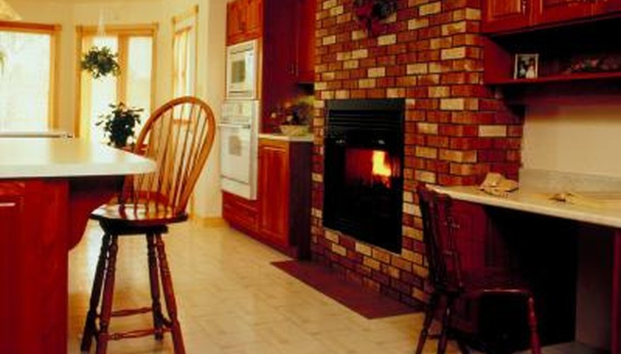 Seal brick fireplaces with a water repellent sealer.