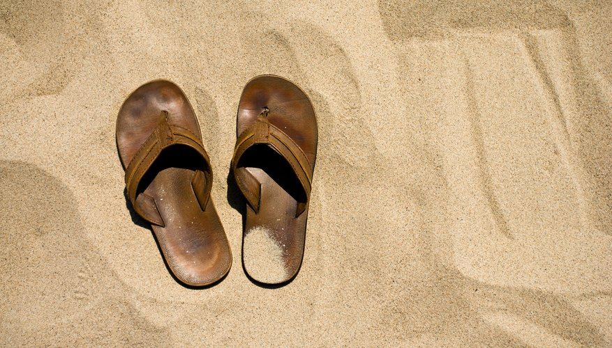 Suede summer sandals absorb sweat, and sweat means stink.