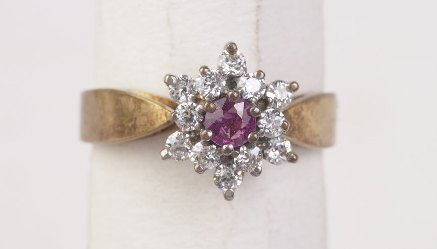 Amethysts and diamonds are extremely hard and durable stones.