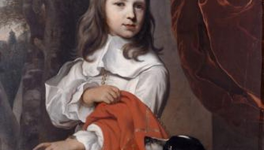 Children in the 17th century were dressed to resemble adults.