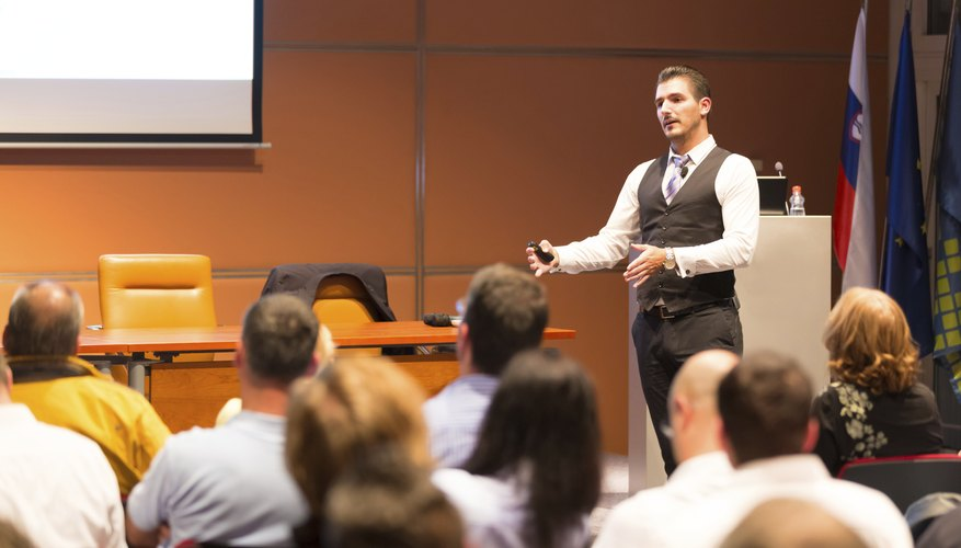 Public speaking skills can help score a strong evaluation.