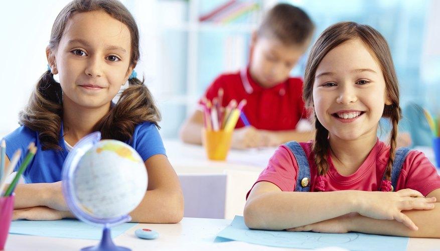 Image of smiling children at school.
