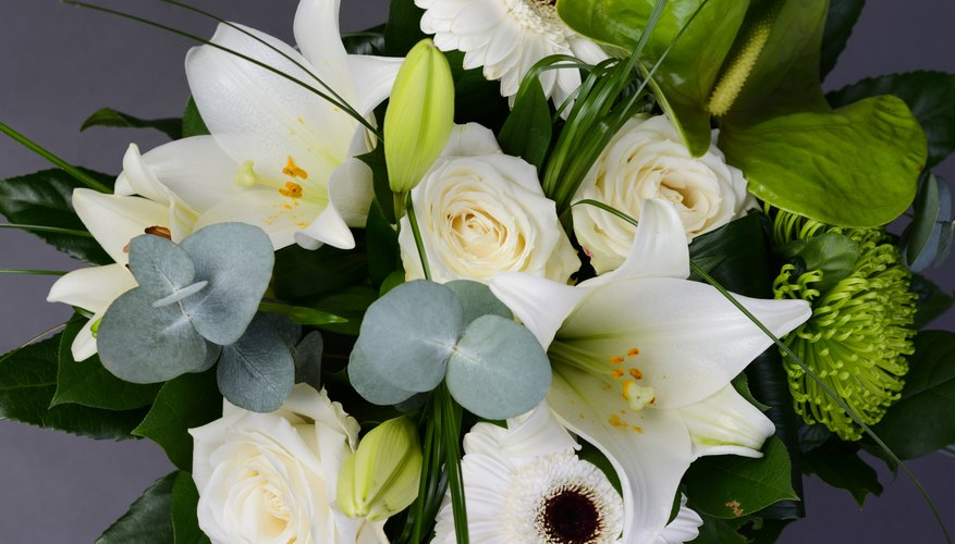 Arrangement of white flowers