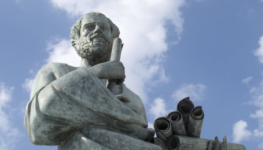 A statue of the Greek philosopher Aristotle