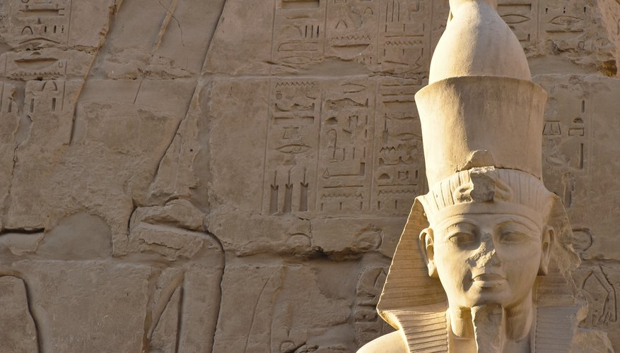 Pharaoh statue in Egypt