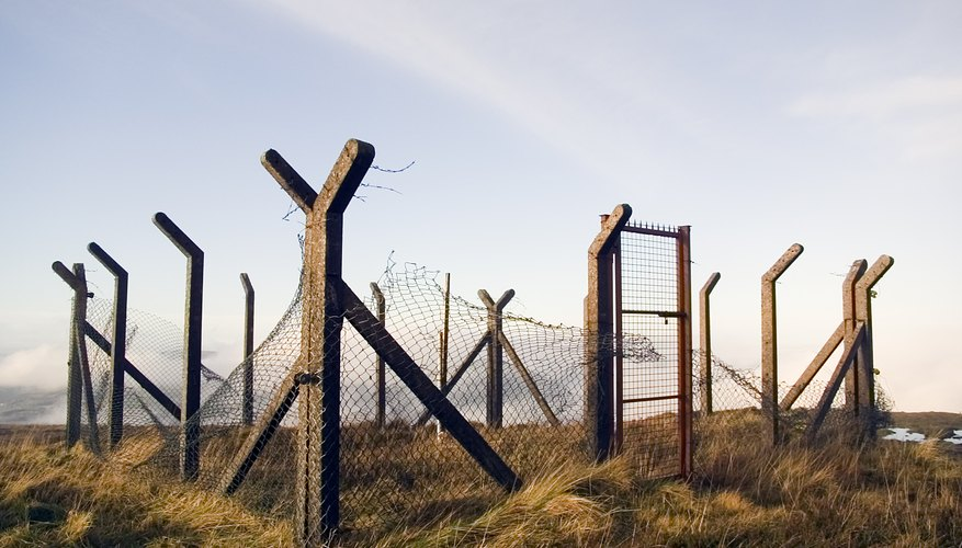 Cement fence posts are very durable.