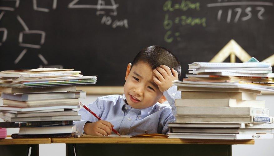 A boy is struggling in school.