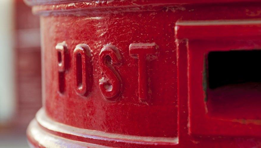 Close up of mail box
