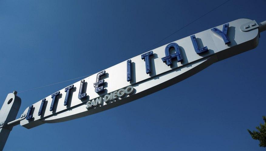 San Diego's Little Italy.