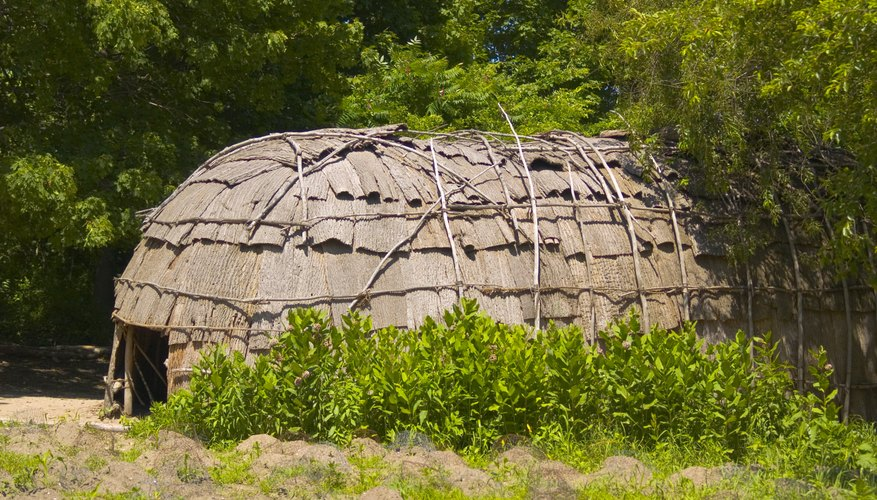 The Wampanoag and Mohican people lived in bark-covered longhouses, also known as wigwams.