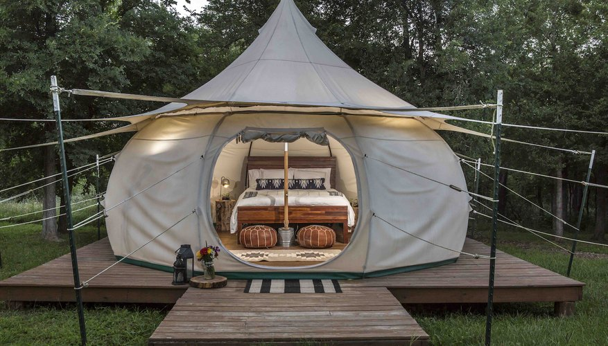 Green Acres, near Austin, Texas, is a great glamping spot!