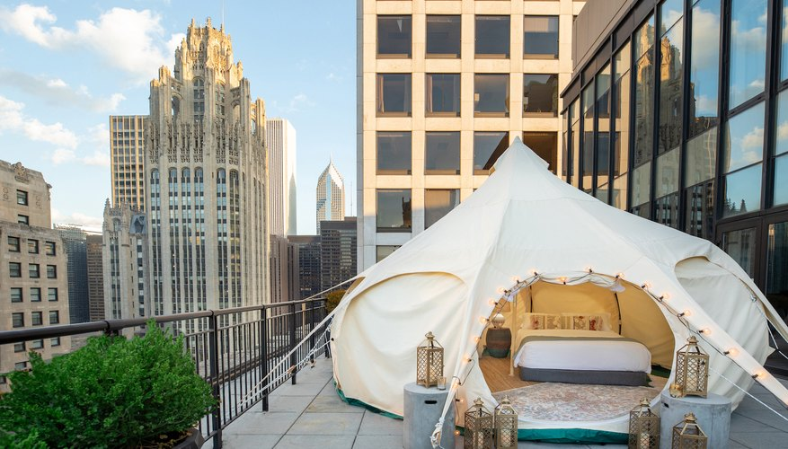 You can glamp right off Michigan Avenue in Chicago at the Gwen Hotel.