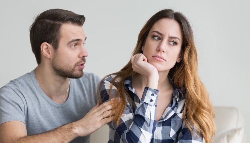 Boyfriend trying to explain cheating to girlfriend.
