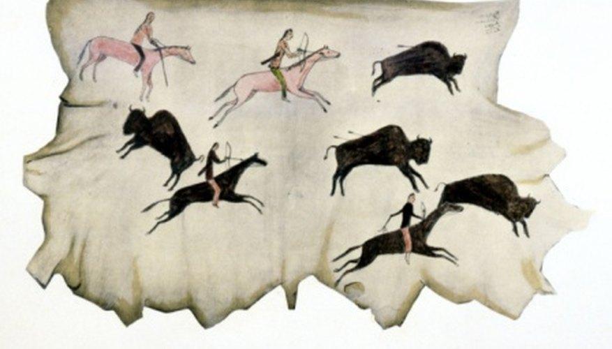Some Shoshone tribes hunted buffalo on horseback.
