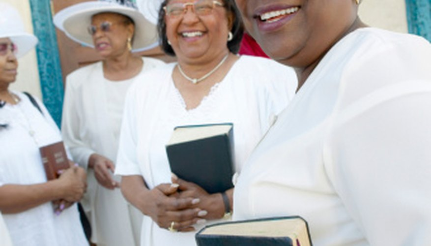 In some churches, everyone wears white for the ordination.