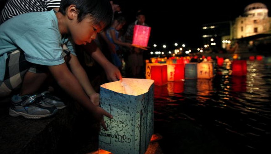 The Obon Festival in Japan honors the lives of ancestors.