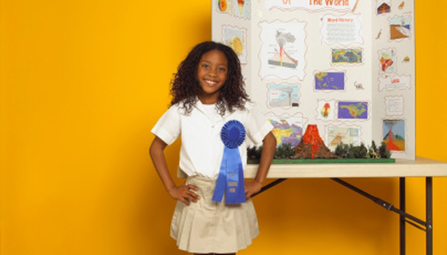 It's a proud day in a child's life when she wins a blue ribbon for a science project.