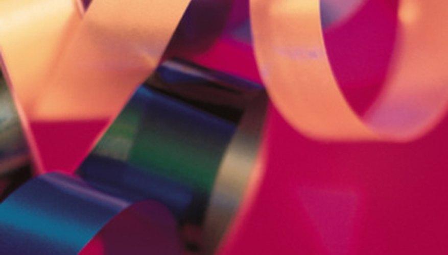 Make a bracelet using colorful ribbon.