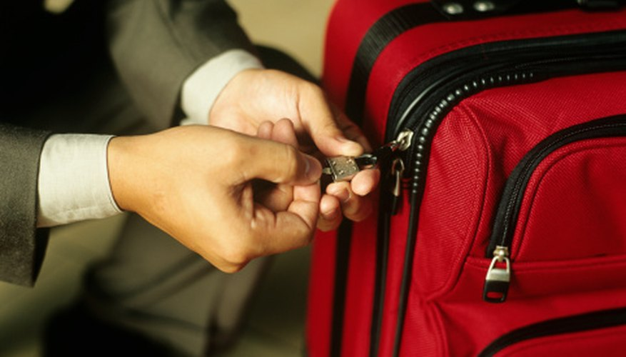 Luggage locks come in a variety of shapes and sizes, but as a rule they're simple to break.