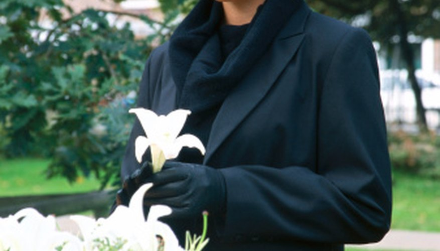 White lilies are a traditional choice for wreaths.