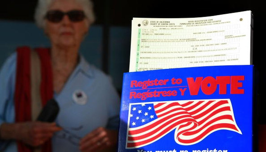 Voter registration drives allow Californians to change their party affiliation.